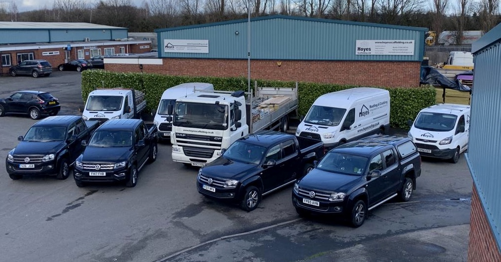 Hoyes Roofing Vehicles